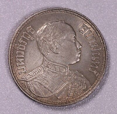 Be2459 Thailand 1Baht Silver Toned Aunc