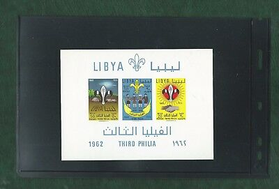 Libya 1962 imperf Scouting minisheet unmounted mint MNH