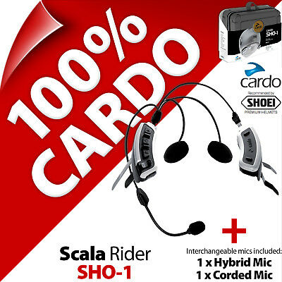 Cardo Scala Rider SHO-1 for SHOEI Helmet Bluetooth Motorcycle Intercom Headset