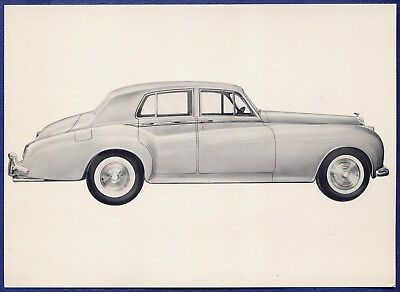 "RF1451 1962 62 Bentley ""S"" 2 Dealer Sales Spec Card"