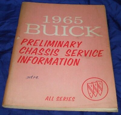 RF1573 1965 Buick All Series Pre Chassis Service Manual