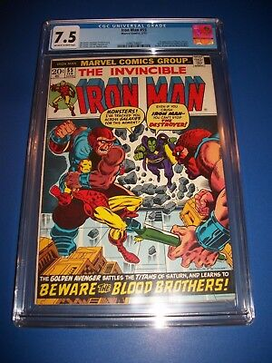 Iron Man #55 1st Thanos, Drax, Mentor Huge Key Starlin CGC 7.5 Beauty Wow