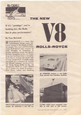 RF1666 1961 Rolls-Royce Silver Cloud V8 Road Test