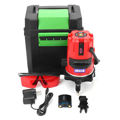 20x Brighter 5 Line 6 Point Automatic Self Leveling Rotary Laser Level Set + Box