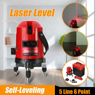 Automatic Self-Leveling 5 Line 6 Point 4V 1H Rotary Laser Level Measure + Tripod