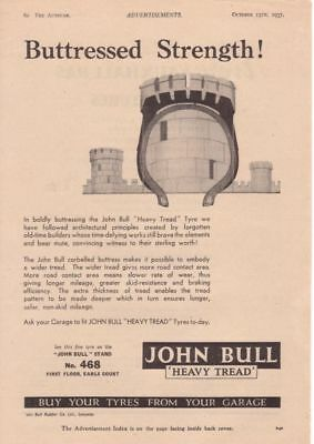 RF1992 Vtg The AutoCar Magazine Ad 1937 John Bull Rubber Co.