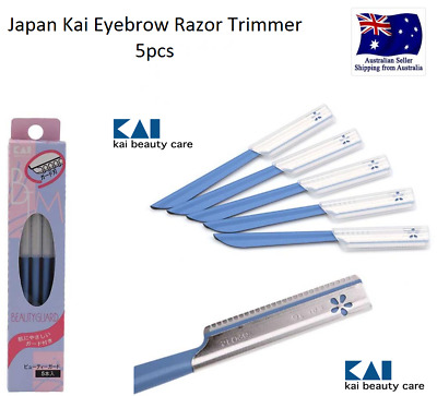 AUS 5pc Japan Kai Beauty Guard Eyebrow Safety Hair Shaving Removal Razor Trimmer