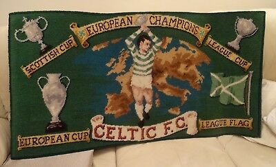 Rare Celtic European Cup Winners 1966-67 Victory Rug With Certificate