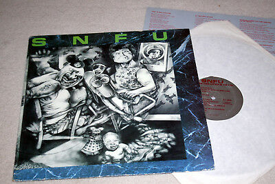 SNFU better than a stick in the eye. usa lp hardcore punk 1st prs w/insert.