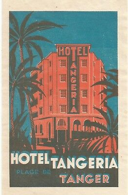 HOTEL TANGERIA luggage DECO label (TANGER)