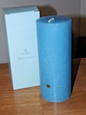 "New Rare Partylite Blue Tamarind 7"" Pillar Candle In Box"