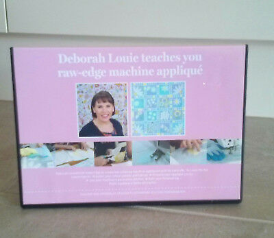 Deborah Louie Teaches You Raw-Edge Machine Applique Dvd ~ New
