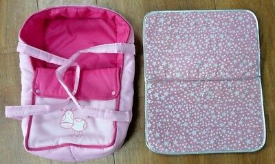 Childs Play Pink Baby Carrier and Changing Mat for Dolls