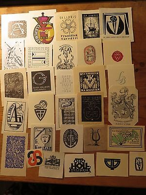 Vintage Ex Libris Job Lot ,30 pieces