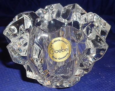 RP1958 Goebel Candle Holder Votive West Germany 24% Bleikristall Lead Crystal