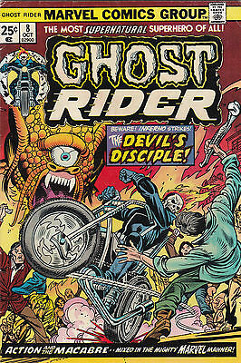 1974 Marvel Comics The Ghost Rider Comic Book #8 A