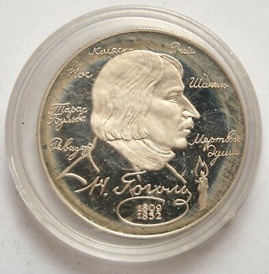 RUSSIA 185th Anniversary of Birth of N.V. Gogol silver 2 ROUBLES 1994 Proof