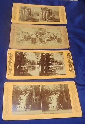 RP2286 Vtg Stereoview Photo Cards Lot x4