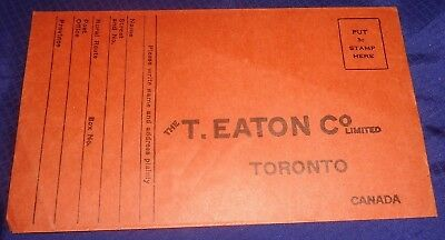 RP2288 Vtg T. Eaton Co. Toronto ON Order Return Envelope
