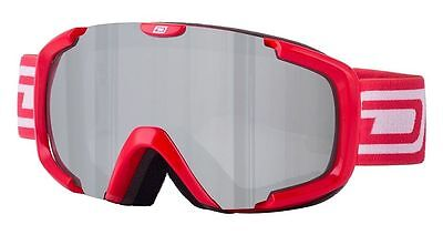 Dirty Dog 54160 Stampede Adult Snow Ski Goggles Red/grey Silver Mirror *srp £40*