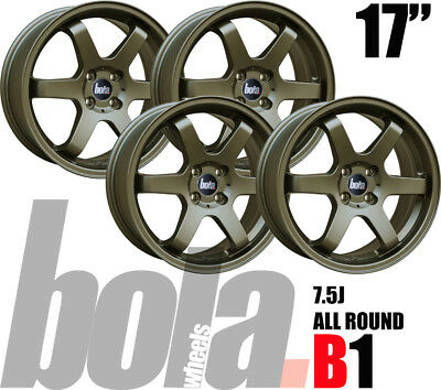 "17"" Bola B1 Bronze 4 Stud 7.5J Set Of 4 New Alloy Wheels For Mg Zs 01-05"