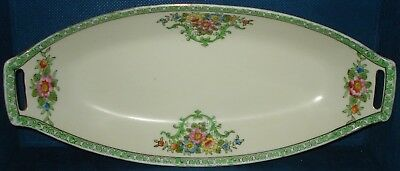RP517 Vtg Old Noritake Hand Painted Handle Serving Dish