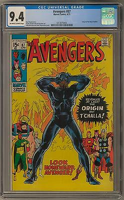 Avengers #87 CGC 9.4 (OW-W) Origin of The Black Panther