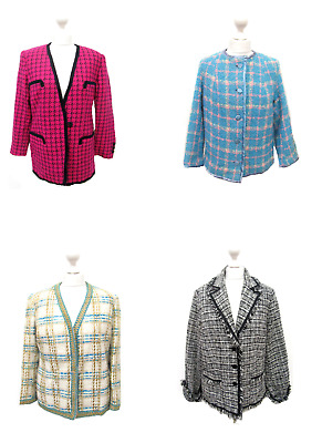 12 X Women's Vintage Wool Jackets Tweed Mix Of Eras Wholesale Clothing Joblot