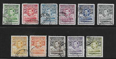 Basutoland  Sg 18/28  1938 Gvi Set Of 11   Fine  Used