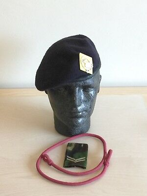 British Army Queen's Lancashire Regt. Beret, Badge, Lanyard & DPM Slide 57cm. 00