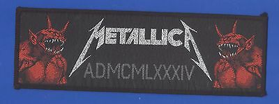 Metallica Jump In The Fire AD MCMLXXXIV vintage 1980s  'Superstrip' SEW-ON PATCH