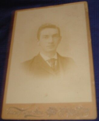 SE372 Vtg Cabinet Photo Young Man Thompson & Son 75 King St East Toronto ON