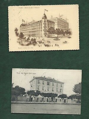 All World old Hotel Postcards used and unused colour/b&w 12 different Europe (d)