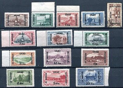 1918/21 Iraq British Occupation Yvert N. 26/39 Mnh-Mh N. 29 Used  F858
