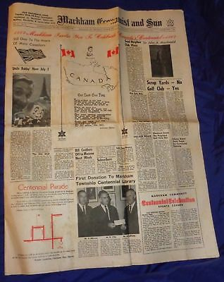 SE495 Markham ON Economist & Sun Newspaper June 29 1967 Centennial Issue