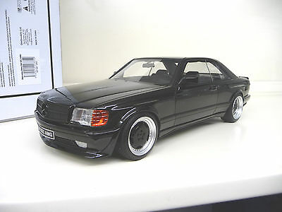 1:18 Otto Mobile Mercedes 560SEC W126 Wide Body black NEW SHIPPING FREE