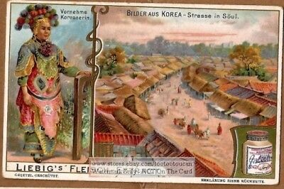 Korea Wealthy Women Seoul Soul Street Asia Orient 1903 Trade Ad Card g