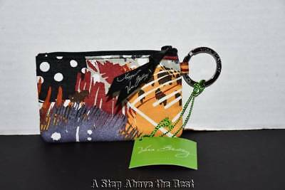 Vera Bradley Zip ID Case in Painted Feathers #10125663 New with Tags