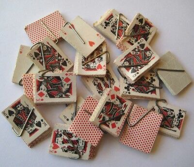 VINTAGE Miniature Paper PLAYING CARD DECKS Gumball Prizes LOT of 20