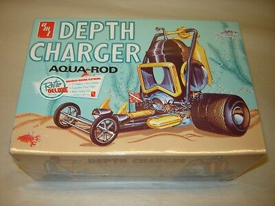 AMT 618 Retro Deluxe DEPTH CHARGER AQUA ROD 1/25 Model Kit Sealed