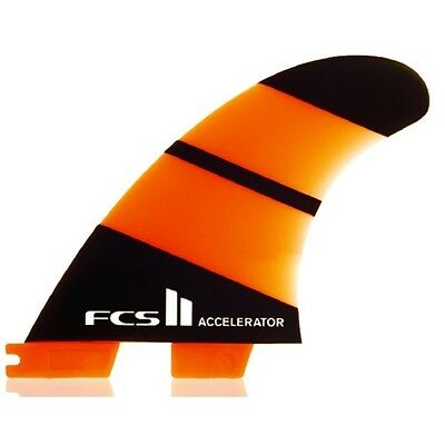 FCS II Accelerator Neo Glass Thruster Surfboard Fins Large NEW 3 fin set
