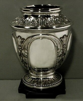 French Sterling Wine Cooler     * Maurice Laurie, Paris * c1900          60 Oz.