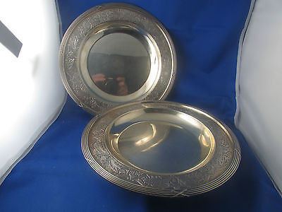 antique pair plates solid silver punch minerve time 19 # style L XVI