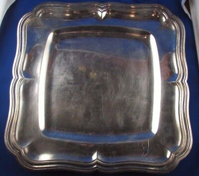 antique large dish plate at the net solid silver punch minerve 19 th style LXV
