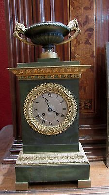 pendulum bronze golden xixth style empire napoleon mantel clock cassolette