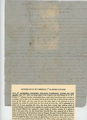 Mr Fancy Cancel Civil War CSA Soldier 1st Ala Ltr 5/12/1864 Transcribed #3157