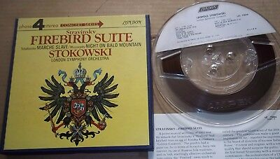 Stokowski STRAVINSKY The Firebird Suite - London 4 Track Reel to Reel LCL 75026