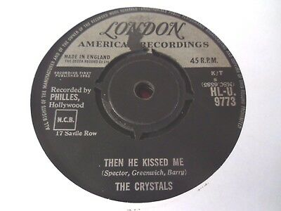 """The Crystals - Then He Kissed Me  7""""  63  Fair  (Plays Great)"""