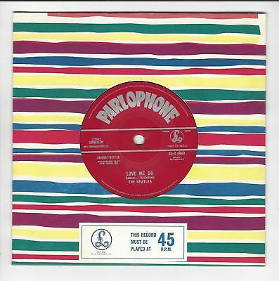 Beatles Uk 7'' Reissued Mispress Love Me Do In Ex/ex  Con