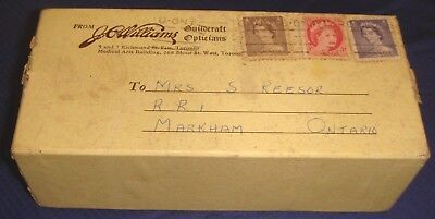 SE278 Vtg J.C. Williams Guilcraft Opticians Toronto ON Eyeglass Shipping Box